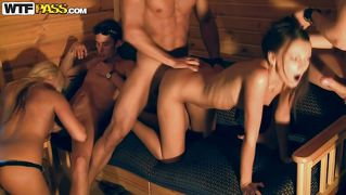Sex party with a lustful college girls
