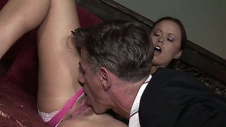 Naughty kaci starr plays with her stepfather's cock