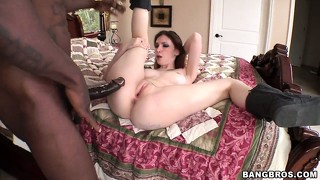 Big black cock is pounding tattooed indigo augustine from behind