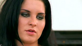 Teen bettina dicapri has fire in her eyes as she masturbates