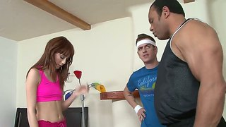 Zoe voss gets seduced by well hung instructor