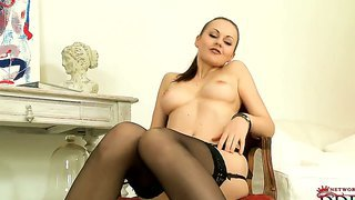 Tina kay in lingerie gets naughty and wet