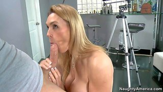 Tanya tate is s good looking milf with huge boobs. she pays a visit to her son's best friend in the hospital and makes him happy with her pussy. she inserts his hard dick in her fuck hole after banging her big hooters.