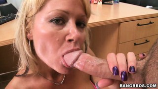 A seductive floridian milf gets a messy facial then cleans herself up