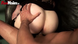 Curvy babe lisa has her lips all over two cocks eager to have them banging her twat