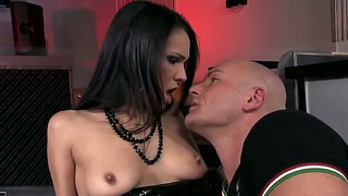 Devilish latina brunette samia duarte fucking with her co-workers to calm her burning desire