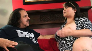 Fat brunette mom with a hair pie gets naked, fingered and fucked