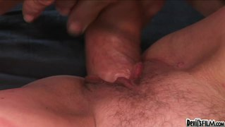 Grandma wants all of dude's cock inside her soft & wet pussy