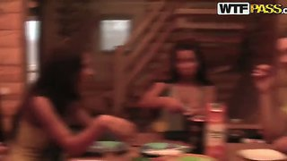Have fun with awesome abbey, alina blonde, angel rivas and chinita at the college sex party
