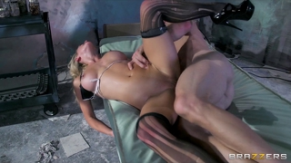 Busty blonde nurse fucks rides her paitent's long hard cock