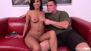 Reena sky exposes herself before blowing a dude and getting boned