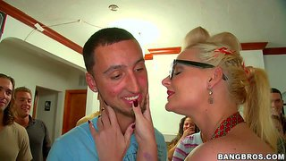 Dirty mature whore ava adams with massive knockers crash at dorm party with her lusty slutty friends blonde phoenix marie and black haired diamond kitty with massive fake tits and have fun with students