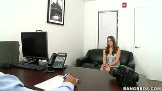 Cute amateur melissa moore at her first casting