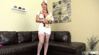 Naughty asian nurse ava devine is ready to get started in this solo show