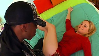 Blue eyed blonde chick aiden starr and my black friend with powerful large dick