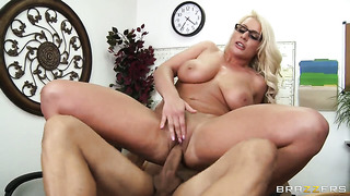 Sadie swede with massive tits sucking like it aint no thing in oral action with david loso