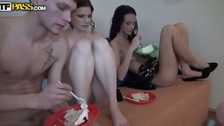 Gorgeous chicks having lots of fun and fucking hard during an awesome birthday party