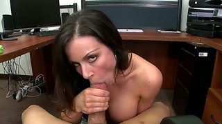Kendra lust falls on her knees in front of this magical beaver-cleaver and does blowing job
