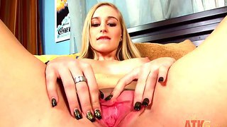 Young princess stacie jaxxx uses a fancy sex toy to get a pleasure from masturbation