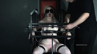 Tower of pain tortures of blonde lifestyle slavegirl angel in hardcore painslut punishments and cruel nipple clamped bdsm