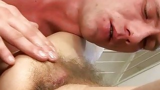 Naughty hairy old bitch getting fucked