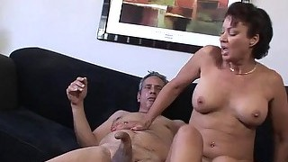 Sexy mature gal gets her hairy pussy banged