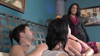 Ashli ames and her mom kiara mia share a lover
