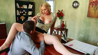 Enjoy awesome johnny castle doing wild things with amazing blonde sarah vandella on the office table
