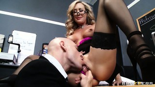 Perfect tits, luscious legs and a wet snatch are some of this hot teacher's attributes