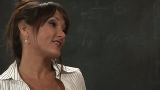 Hot student xander corvus seduces his sexy mature teacher michelle lay!