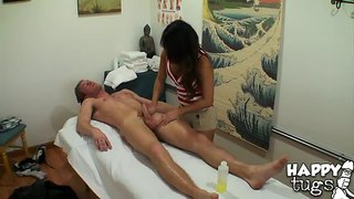 Annie lee massages ryan mclane's dick