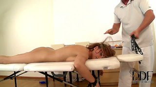 Leyla black gets abused at the massage saloon
