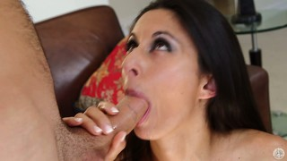 The hot lady has her sexy lips and skillful hands driving that big shaft to pleasure