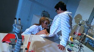 The science teacher keeps the sexy jayden lee behind for some extra biology lessons.
