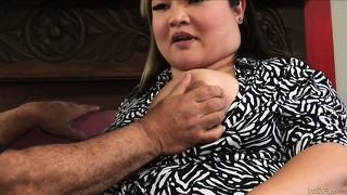 Chubby asian courtesan is smitten with the huge dick of ron jeremy