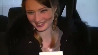 Cool car blowjob by ten prostitute anika for a lot of cash