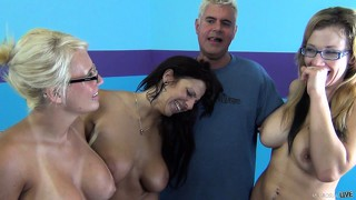 Jacky joy, lylith lavey, and nikki sexx stand around and are all winners