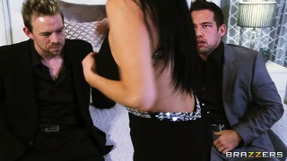 These horny dudes want a new year's sleaze and get lucky with a brunette milf