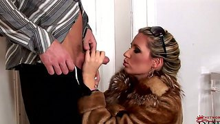 Two gorgeous blonde pornstars cherry jul and sabrina with a pleasure share one cock