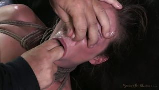 Fingered and fucked roughly on the couch