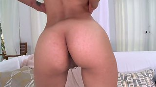 Crystal lopez plays with cock using mouth & hand