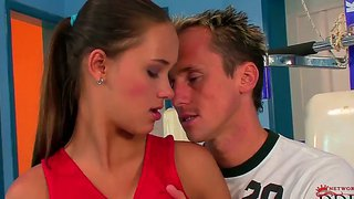 Welcome to a gym with delicious sporty victoria sweet getting fucked hard by her trainer