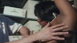Black babe gets placed in bondage by her master