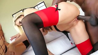 Super hot sexy bitches india summer and julia ann gets their fat round ass pounded hard with a big black cock