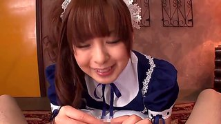 Japanese girl hirono imai is blowjobing her man