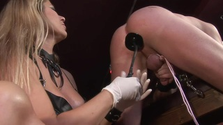 Blonde mistress plays bdsm games with her husband