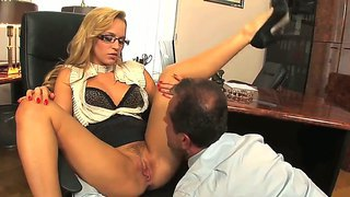 Arousing blonde aleska diamond is horny and eager to ride this long cock