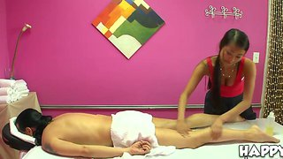 Sharon lee touches man's nude body eagerly!