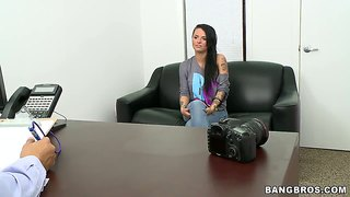 Christy mack debuts at a back room casting