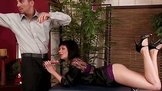 Coco velvett can't get enough of voodoo's huge dick and sucks it the hole night